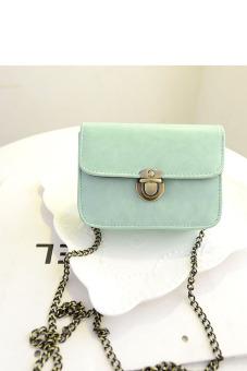 Leather Satchel Shoulder Crossbody Bag (Green)