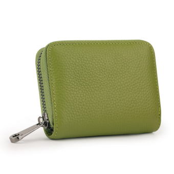 Leather women's credit card sets organ card holder (Green [first layer of leather])