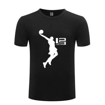 Lebron James Logo T-shirt NBA Theme Shirt Men's Pure Cotton PrintShort-Sleeve - intl