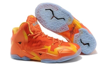Lebron XIII GS Men's Cushioning Combat Basketball Shoes Orange -intl