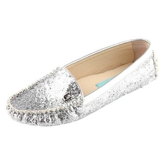 LeBunny Bleu Glazers Driving Shoes (Silver)