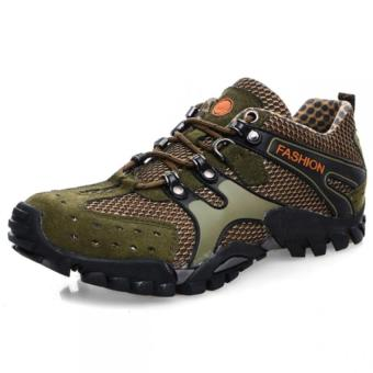 Lechgo Men's Breathable Hiking Shoes 1288-Brown - Intl