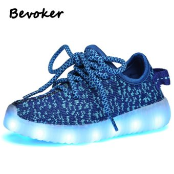 LED Shoes Glowing Sneakers for Kids with Light Up Sole LED Luminous - intl