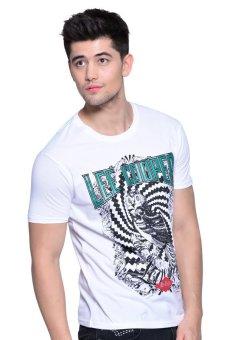 Lee Cooper Tees Round Neck T-Shirt (White) - 3