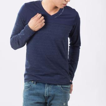 Lee Men's Long Sleeves Tee (Navy Blue) Price Philippines