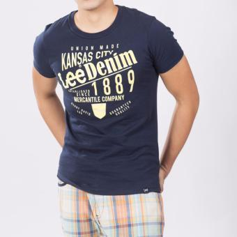 Lee Men's Round Neck Tee (Navy Blue) Price Philippines