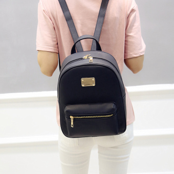 LEFTSIDE 2016 New Fashion Back Pack Women PU Leather Bag Packs Female Cool Classic Backpacks Bookbag For Teenage Girls Bags - intl