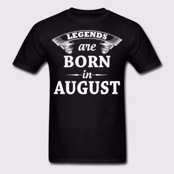 Legends are Born in August T-Shirt (Black) Price Philippines