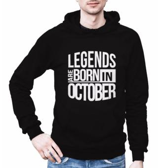 Legends are Born in October Hoodies Jacket for Men (black) Price Philippines