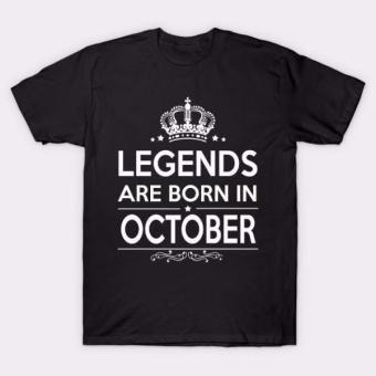Legends are born in October T-Shirt (Black) Price Philippines