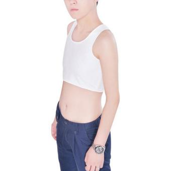 Les Tomboy Women Breathable Buckle Short Chest Breast Binder(White) - intl