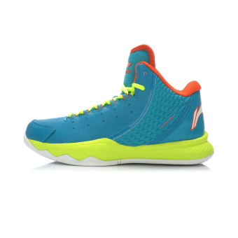 Li Ning abak 005 basketball series to help basketball shoes (Sea blue/flourescent light green)