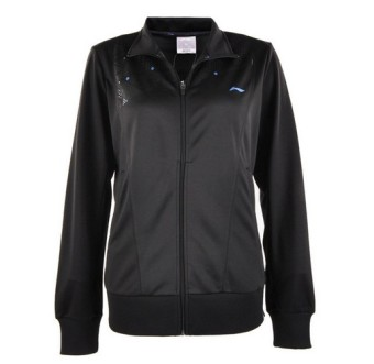 Li Ning awdh 348-2 simple solid color women's tennis jacket