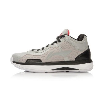 LI-NING basketball shoes men's shoes (Cold gray/Black)