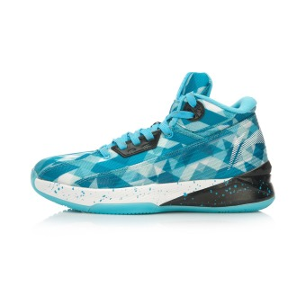 LI-NING hight-top sports shoes basketball shoes (Clear sky blue/new basic black)