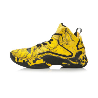 LI-NING hight-top sports shoes basketball shoes (Yao yellow/new basic black)
