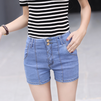 Light-colored female stretch Slim fit feet pants Korean-style cowboy shorts