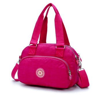 Lightweight large capacity handbag shoulder bag (Rose color)