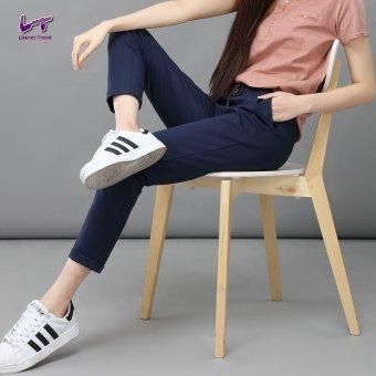 Likener Trend Casu Harem Pant Elastic Waist Ankle-length Pant (Navy Blue) - 5