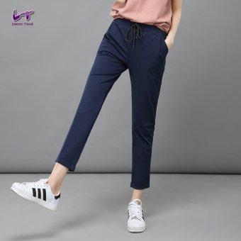 Likener Trend Casu Harem Pant Elastic Waist Ankle-length Pant (Navy Blue) - 2