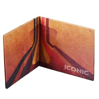 Lines Iconic Paper Wallet (Brown) - picture 2