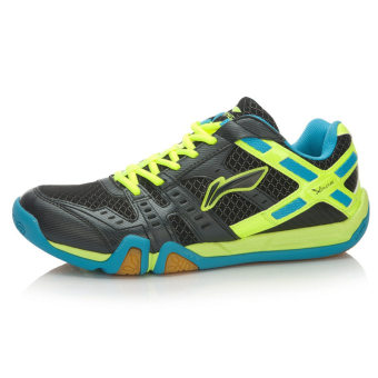 Lining aytl003 stickers to athletic shoes badminton shoes (Black/green/blue)