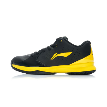 Lining Qiu paragraph basketball court shoes men's shoes (Black/yellow)