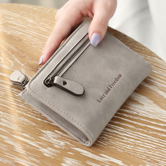 Linjiaxiaofei indie women Japanese and Korean style multi-functional wallet women's wallet (Gray) (Gray)