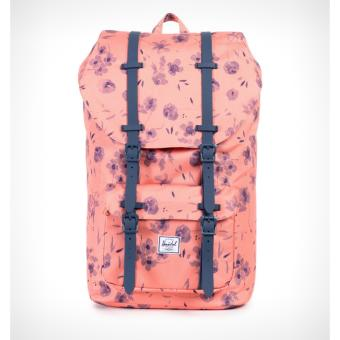 Little America Backpack 23.5L 100% AUTHENTIC (Ruby Burnt Coral /Navy Rubber)