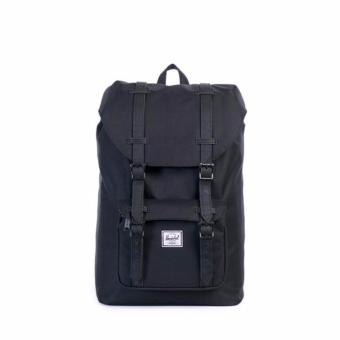 LITTLE AMERICA BACKPACK 25L 100% AUTHENTIC BLACK/BLACK SYNTHETICLEATHER
