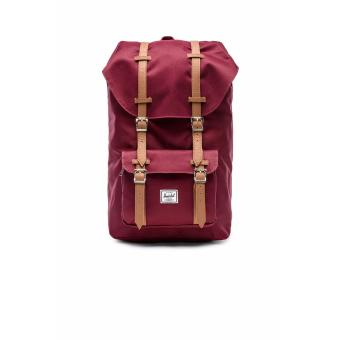 LITTLE AMERICA MID VOLUME BACKPACK 100% AUTHENTIC WINE/TAN