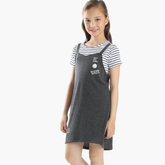Little Miss Girls Best Day Ever Dress (Gray)
