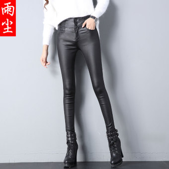 LOFTEX New style high-waisted PU Leather pants stretch leggings