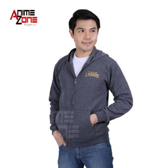 LOL League of Legends Unisex Zip-Up Hoodie Jacket (Grey)