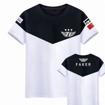 LOL SKT Team Uniform Short Sleeve T-Shirt (New style Faker)