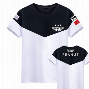LOL SKT Team Uniform Short Sleeve T-Shirt (New style peanut)