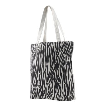 London Fashion Animal Print Tote Bag (White)