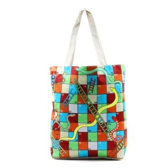 London Fashion Snake and Ladders Tote Bag (White) Price Philippines