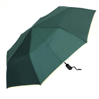London Fashion SPhil Plain Windproof Automatic Compact Umbrella (Green)