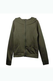 Long Sleeve Hooded Sweatshirt Pullover (Green)