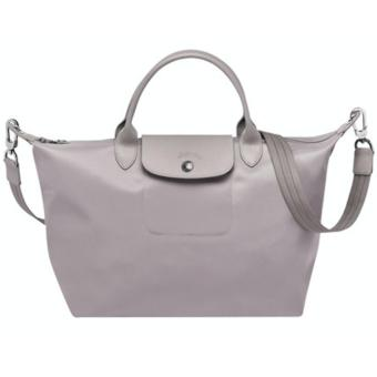 Longchamp Le Pliage Neo Medium Handbag (Light Gray)