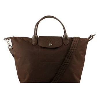 Longchamp Le Pliage Neo Medium Nylon Tote Bag (Brown)