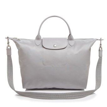 Longchamp Le Pliage Neo Medium Nylon Tote Bag (Grey)