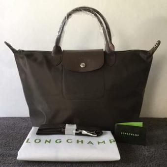 Longchamp Medium Nylon Tote Bag From Italy BLACK