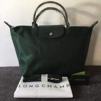 Longchamp Medium Nylon Tote Bag From Italy DARK GREEN Price Philippines