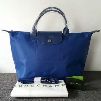Longchamp Medium Nylon Tote Bag From Italy NAVY BLUE Price Philippines