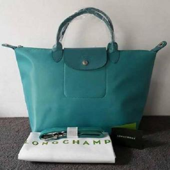 Longchamp Medium Nylon Tote Bag From Italy TURQUOISE BLUE Price Philippines