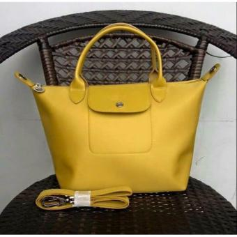 Longchamp Medium Nylon Tote Bag From Italy YELLOW Price Philippines