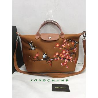 LONGCHAMP NEO LOVE BIRDS EMBROIDERED ROBIN MEDIUM CARAMEL SHORTHANDLE Price Philippines