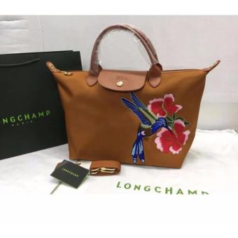 Longchamp Robin Embroidered Medium Tote Bag - Brown Price Philippines
